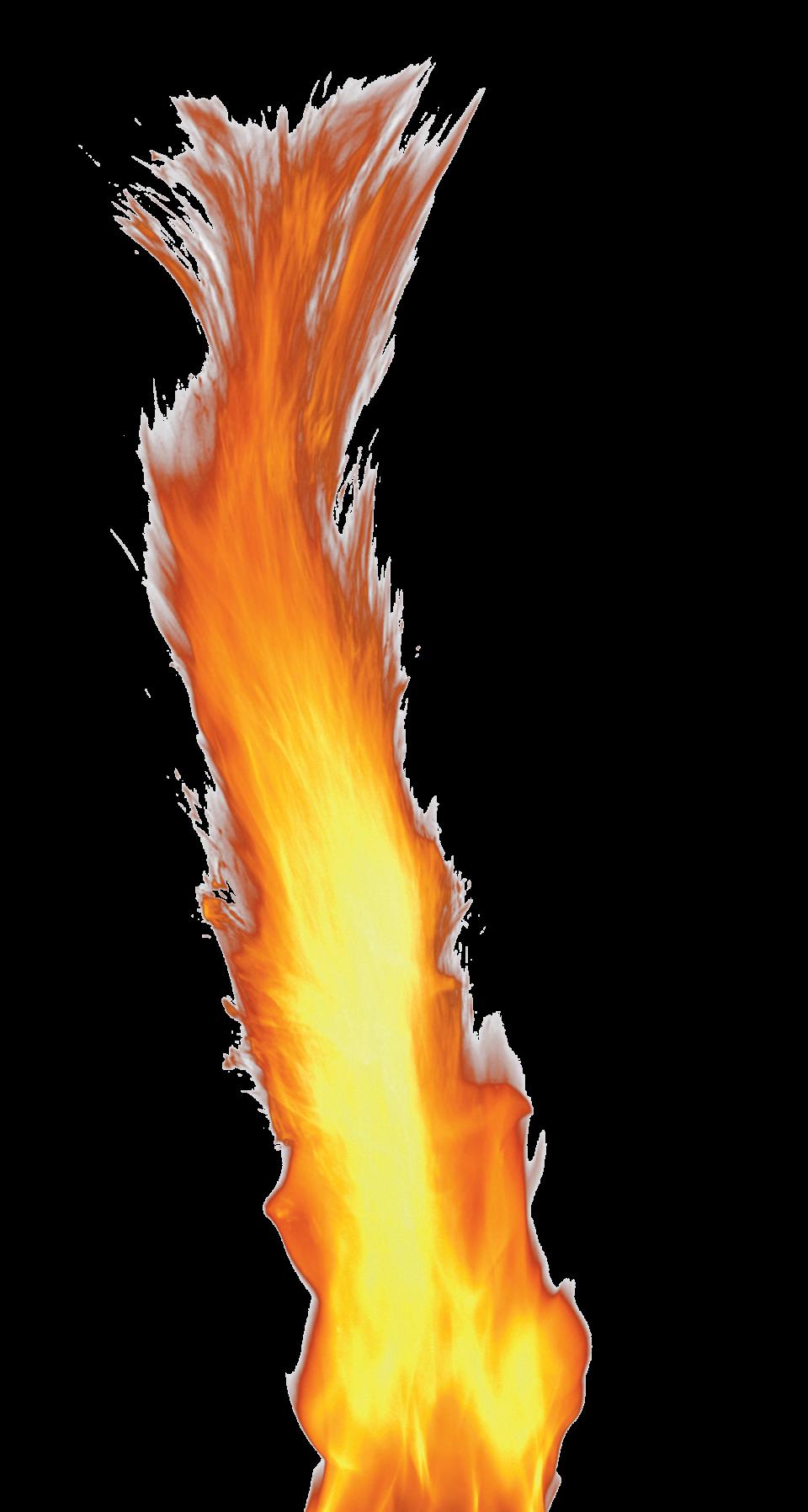 Big Single Flame PNG Image
