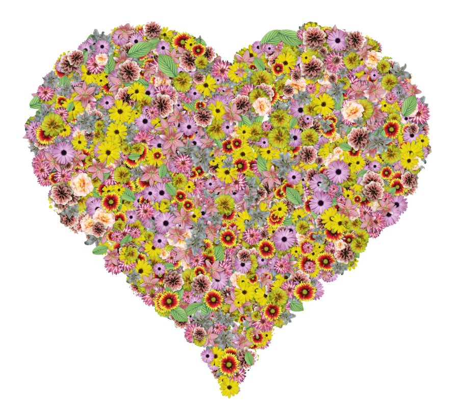 Flower Heart PNG Image