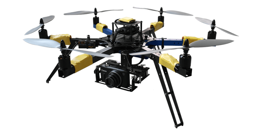 Flying Drone with Camera PNG Image