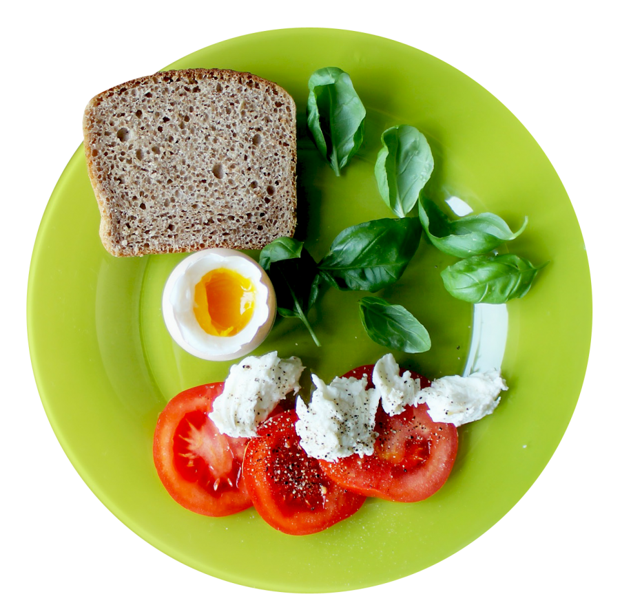 Food Plate Top View PNG Image