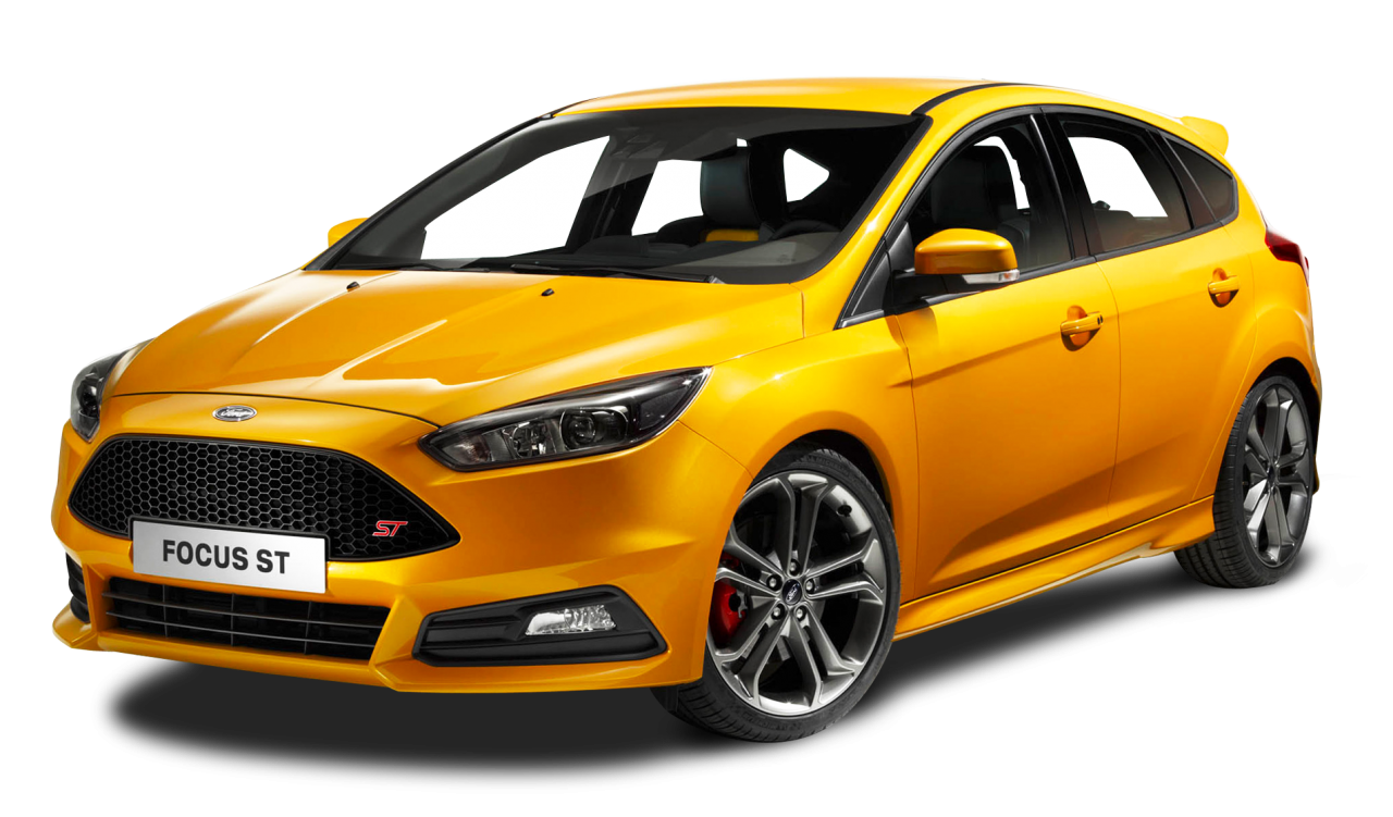 Ford Focus ST Yellow Car PNG Image - PurePNG | Free ...