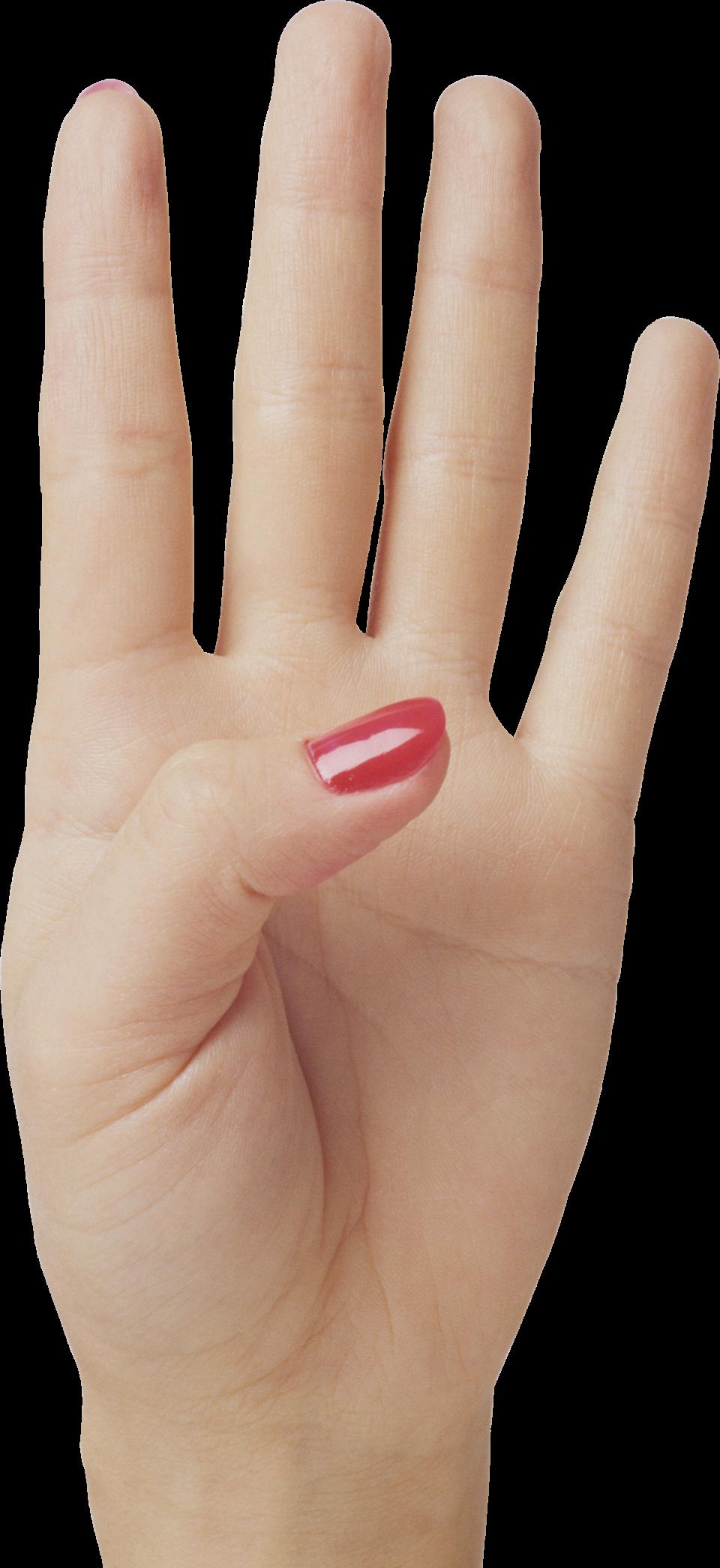 Four Finger Hand PNG Image