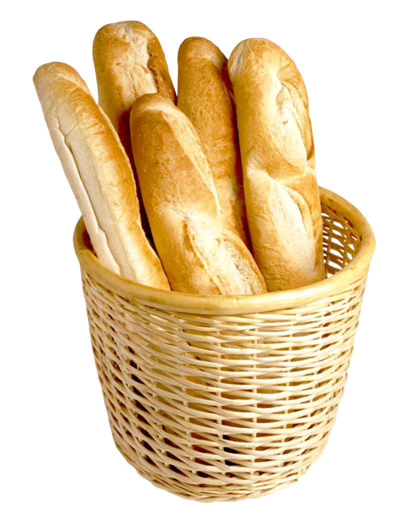 French Bread in Basket PNG Image