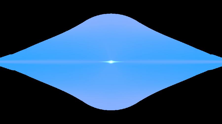 Front Blue Lens Flare PNG Image