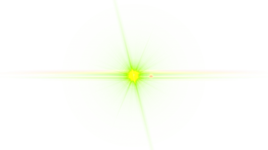 Front Green Lens Flare PNG Image