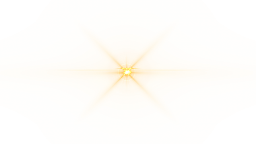 Front Yellow Lens Flare PNG Image