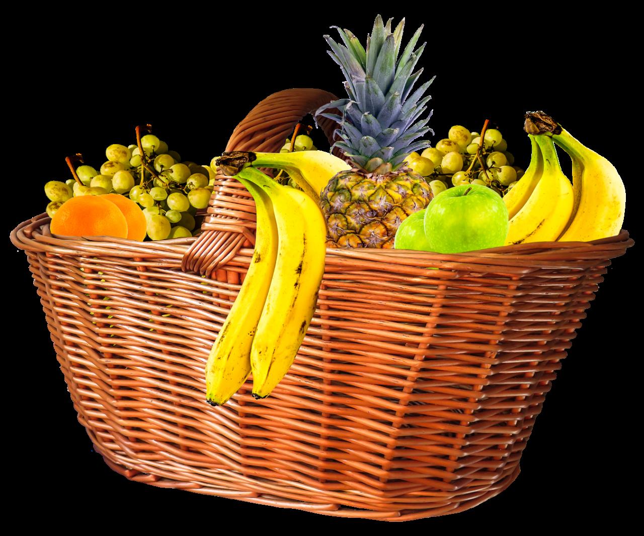 Fruit Basket PNG Image