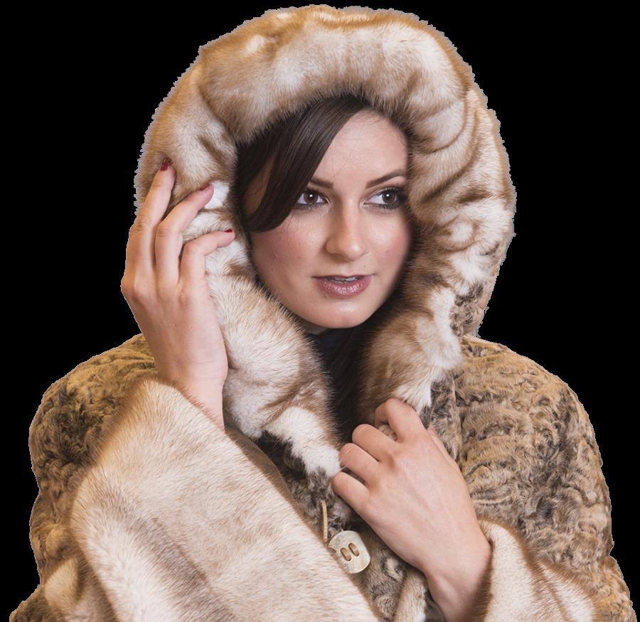 Fur Coat Hooded PNG Image