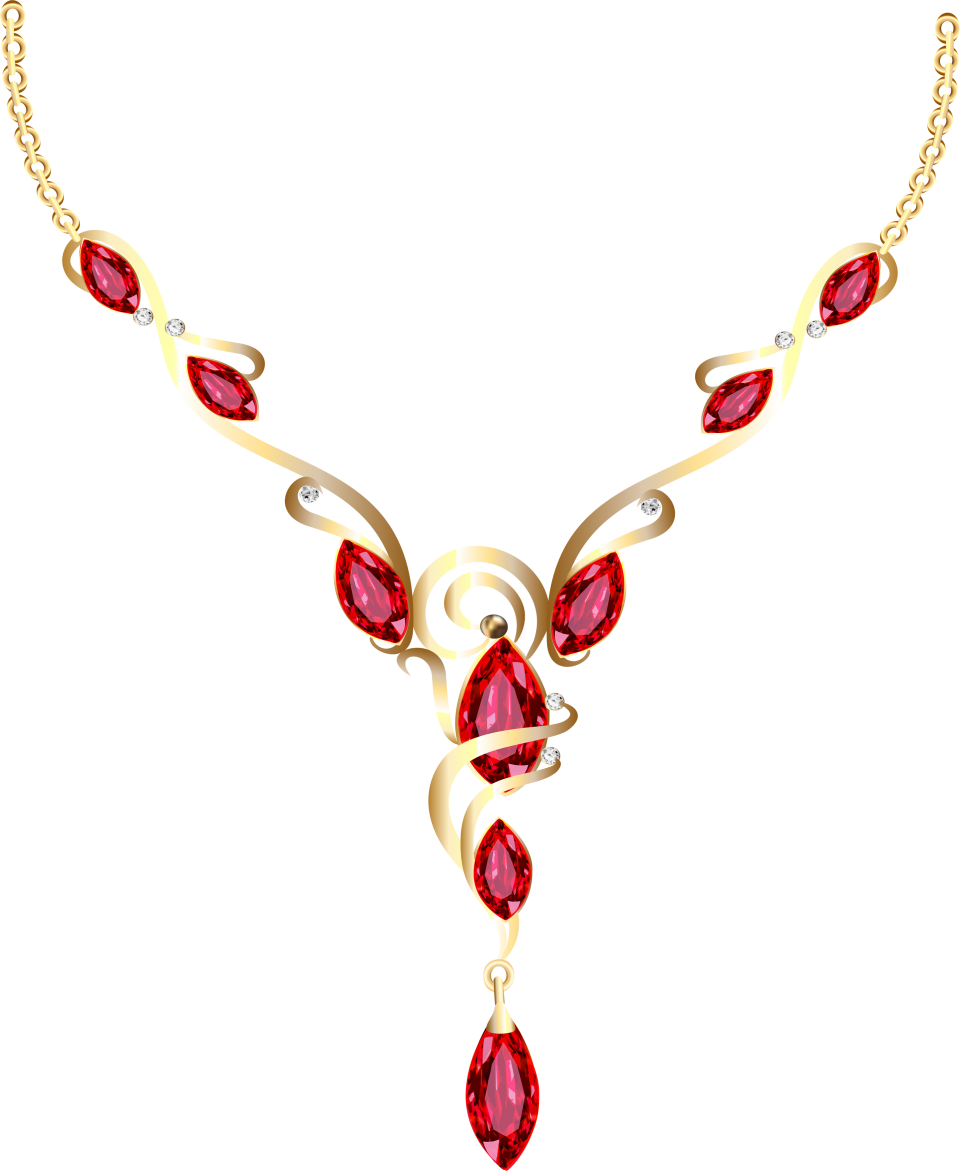Gold Diamond Necklace PNG Image