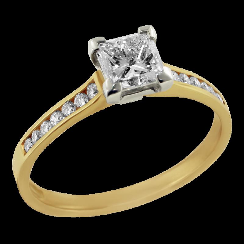 Gold Ring Diamond PNG Image