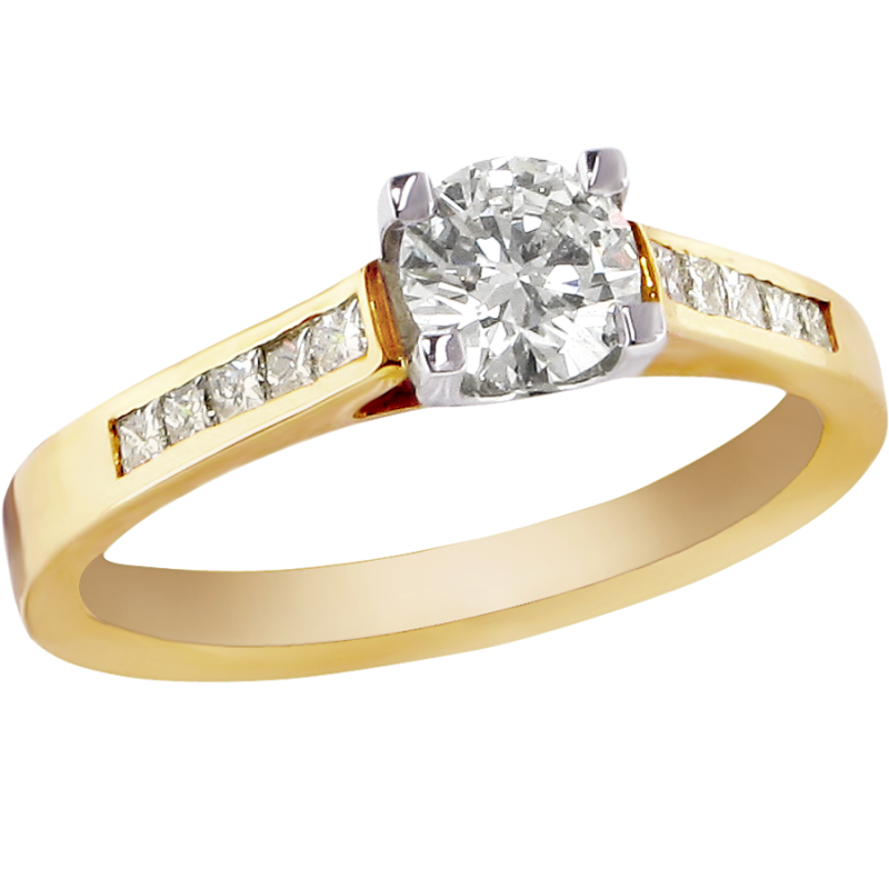Gold Ring Diamond PNG Image