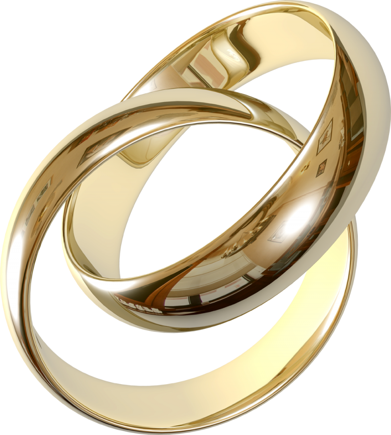 Gold Ring With Diamond PNG Image