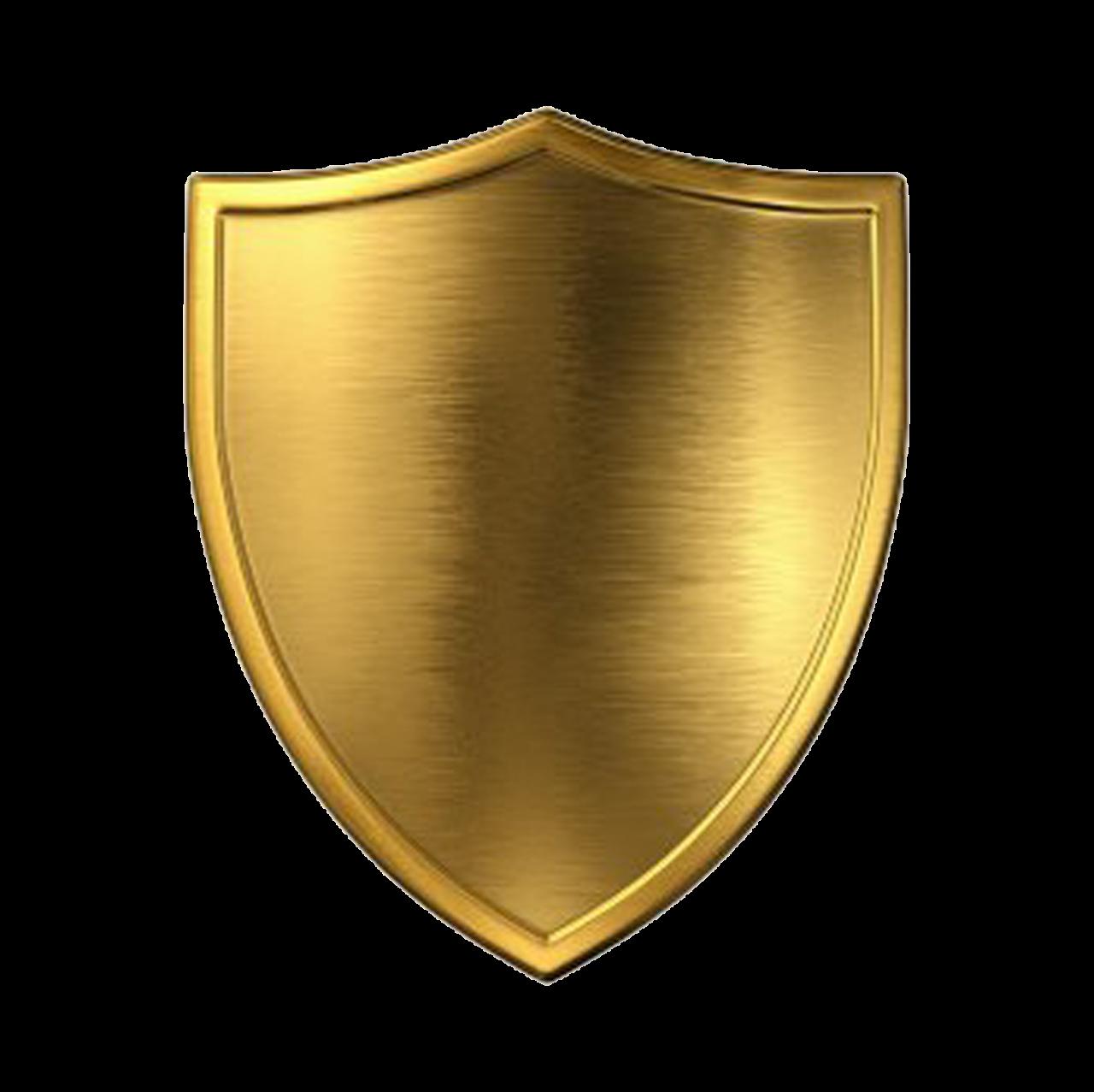 Gold  Shield PNG Image
