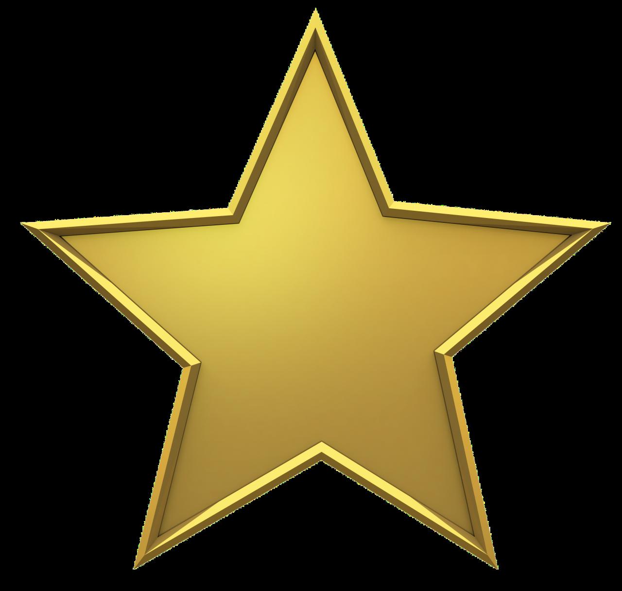 Golden Christmas Star PNG Image