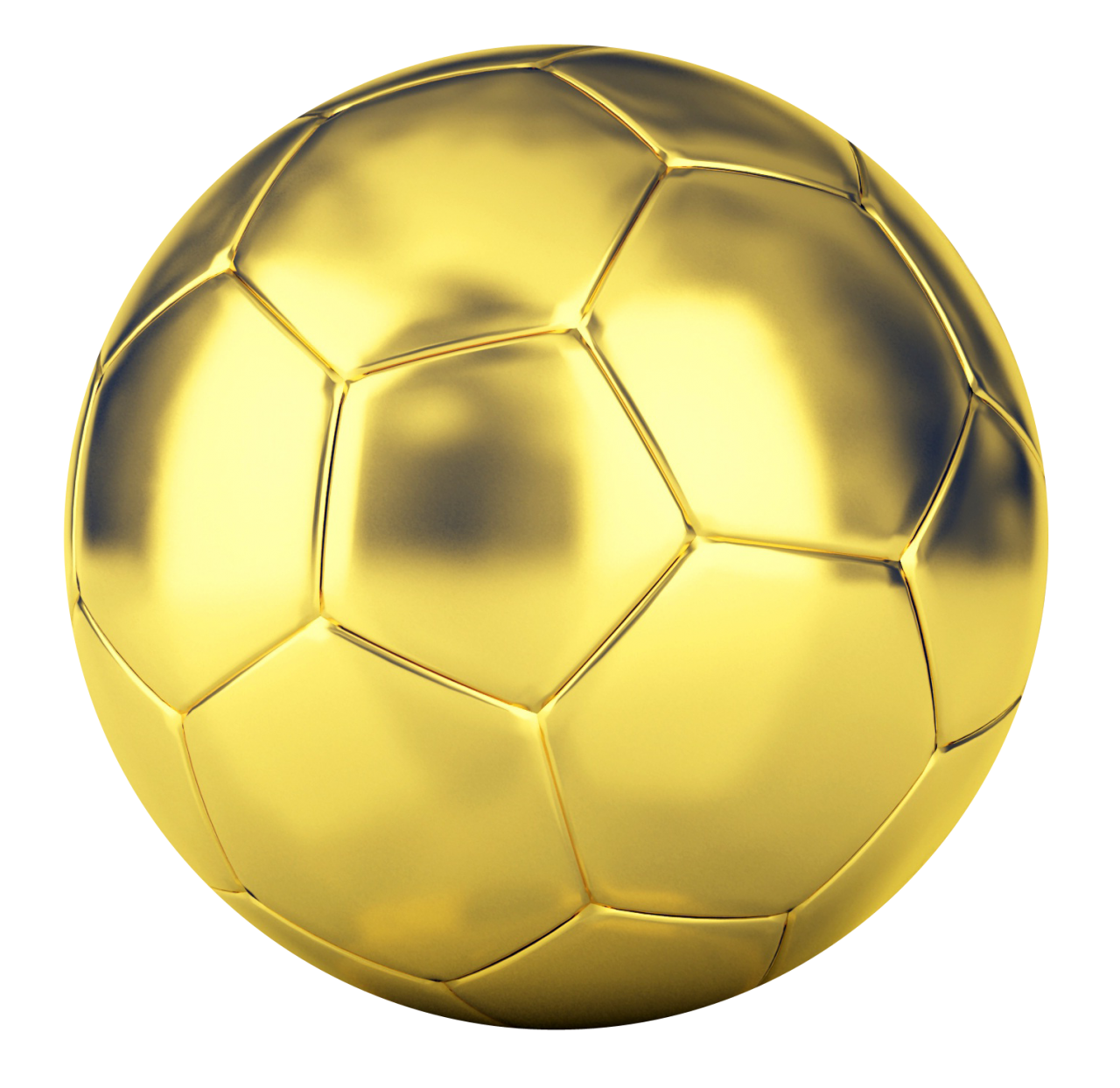 Golden Football PNG Image