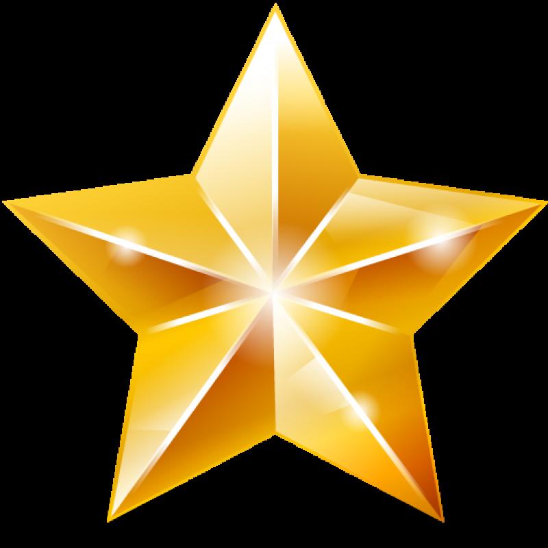 Sparkling Golden Star PNG Image