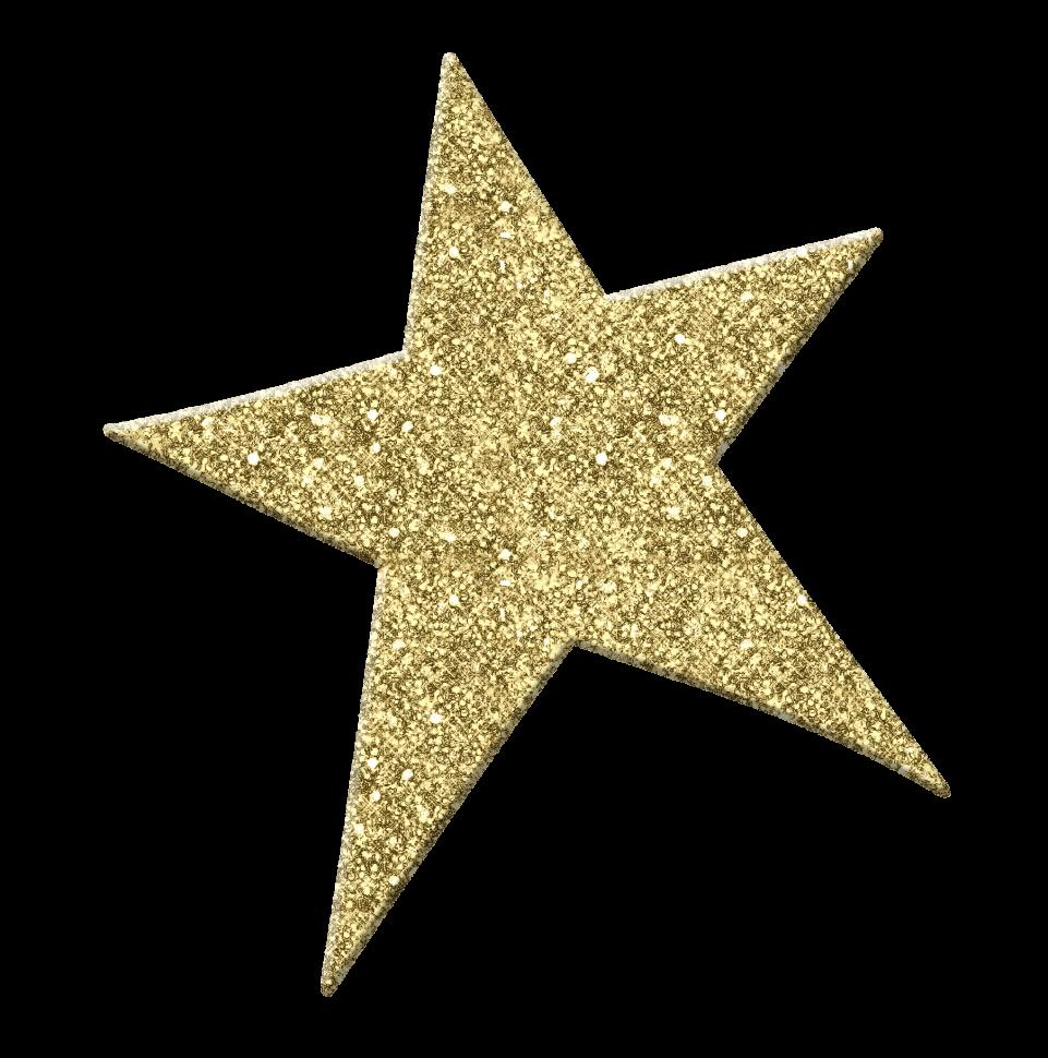 Glittering Golden Star PNG Image