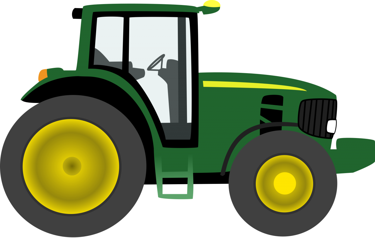 Green Tractor PNG Image