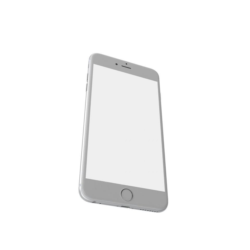 iPhone 6 Plus Silver PNG Image