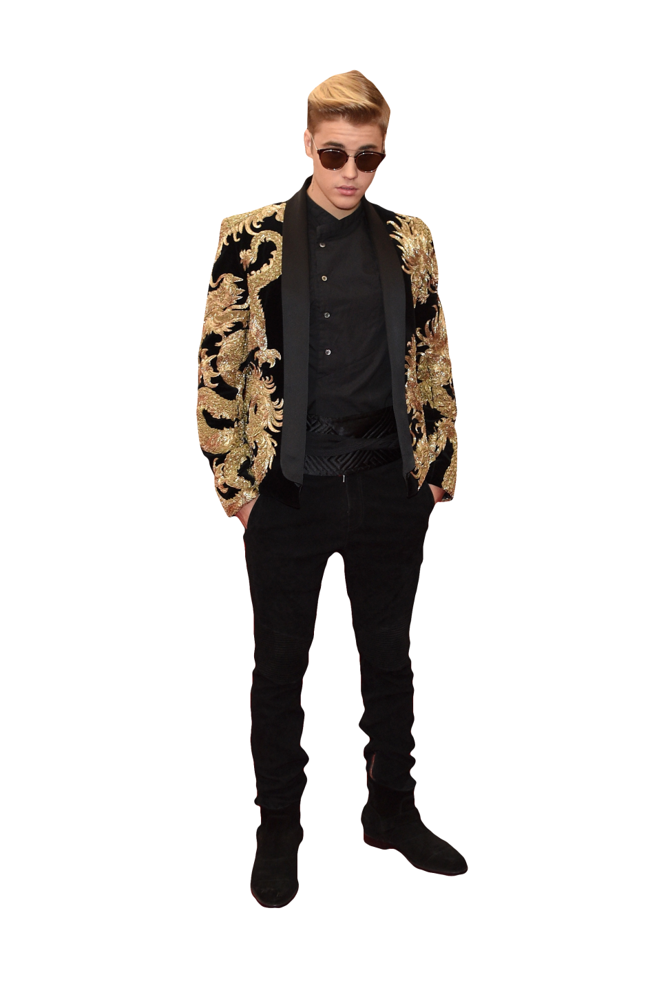Justin Bieber in Sunglasses PNG Image