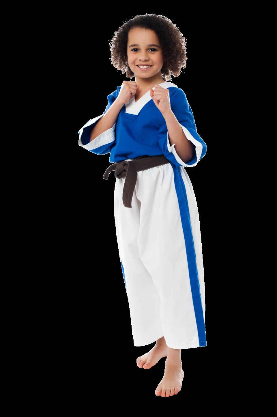 Karate Girl PNG Image