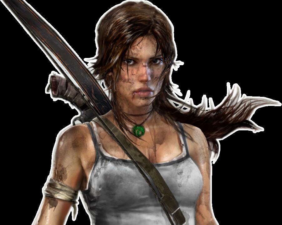 Lara Croft Tomb Raider With Bow Png Image Purepng Free