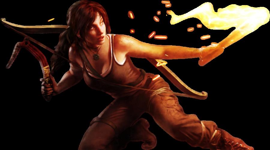 Lara Croft |  Tomb Raider  With Guns PNG Image