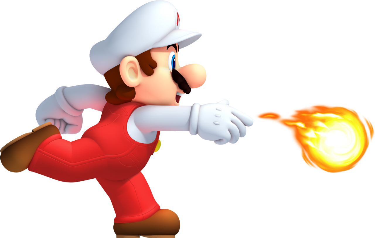 Mario Running Fire PNG Image