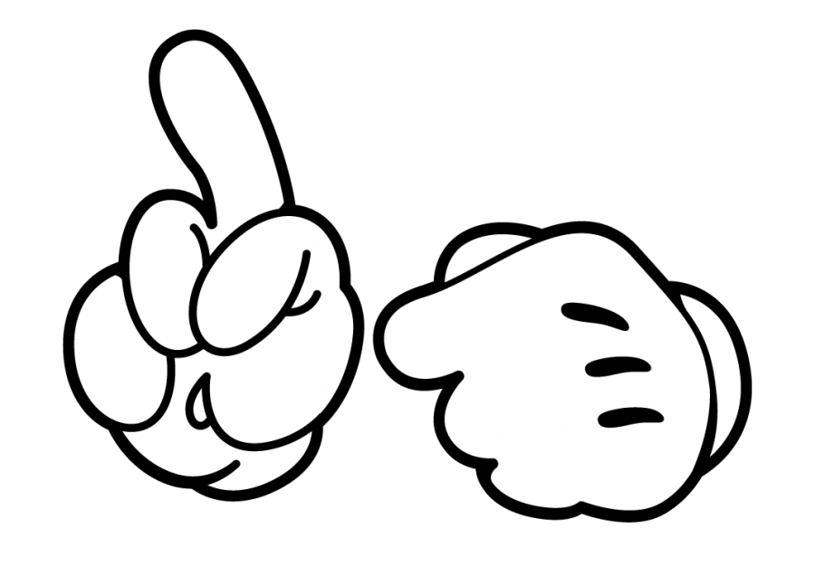 Mickey Mouse Hand PNG Image