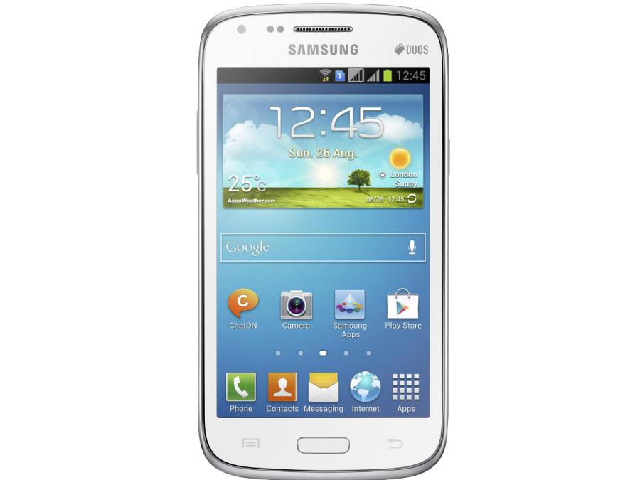 Samsung Galaxy Core GT-I8262 White PNG Image