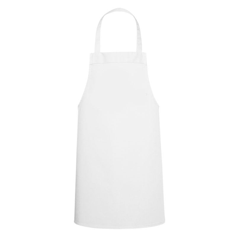 One Large White Kids Apron PNG Image