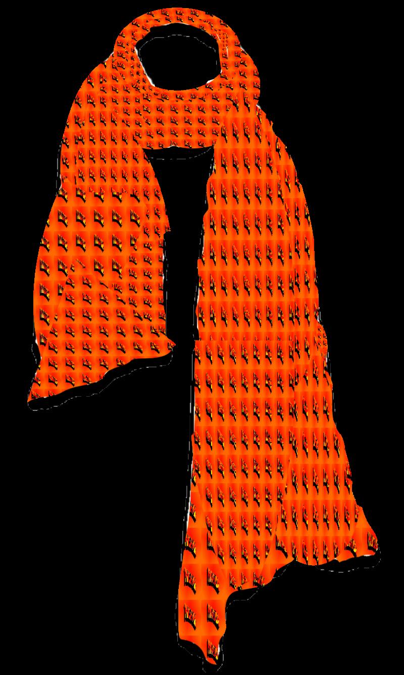 Orange Scarf PNG Image