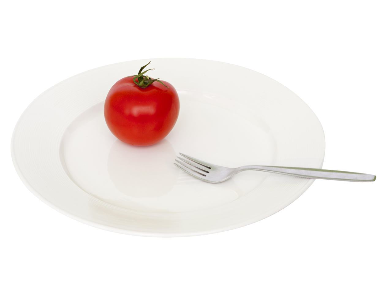 Plate Tomato Fork PNG Image