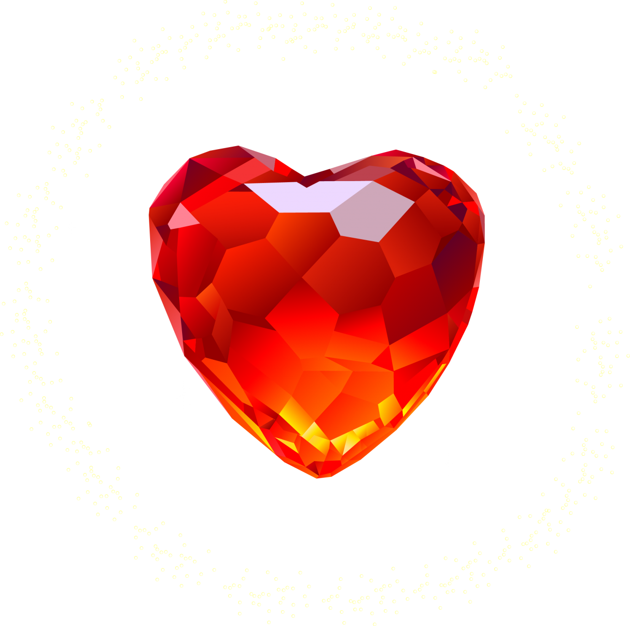 Red Heart Diamond PNG Image