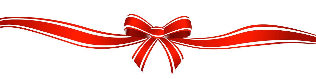 Red Bow with Long Strings PNG Image
