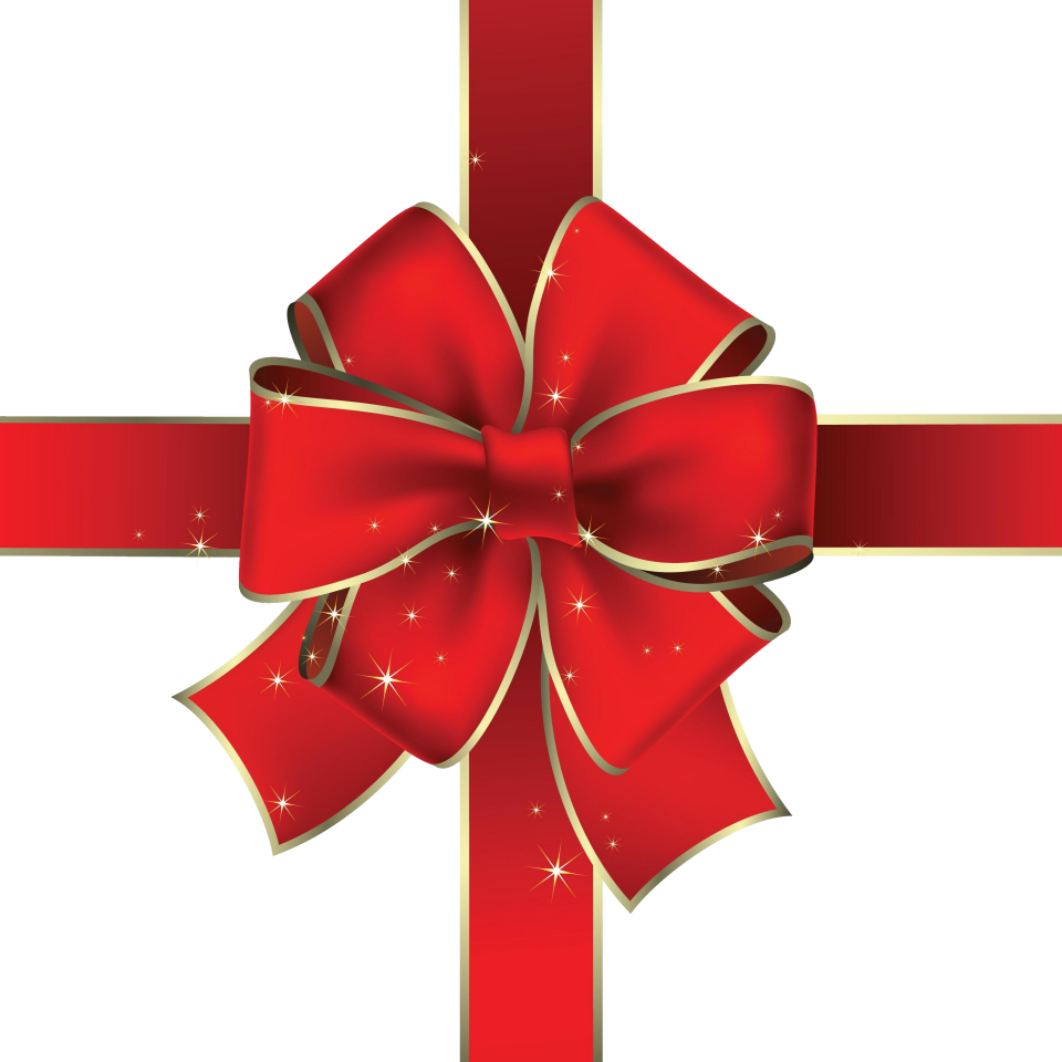 Red Christmas Ribbon PNG Image