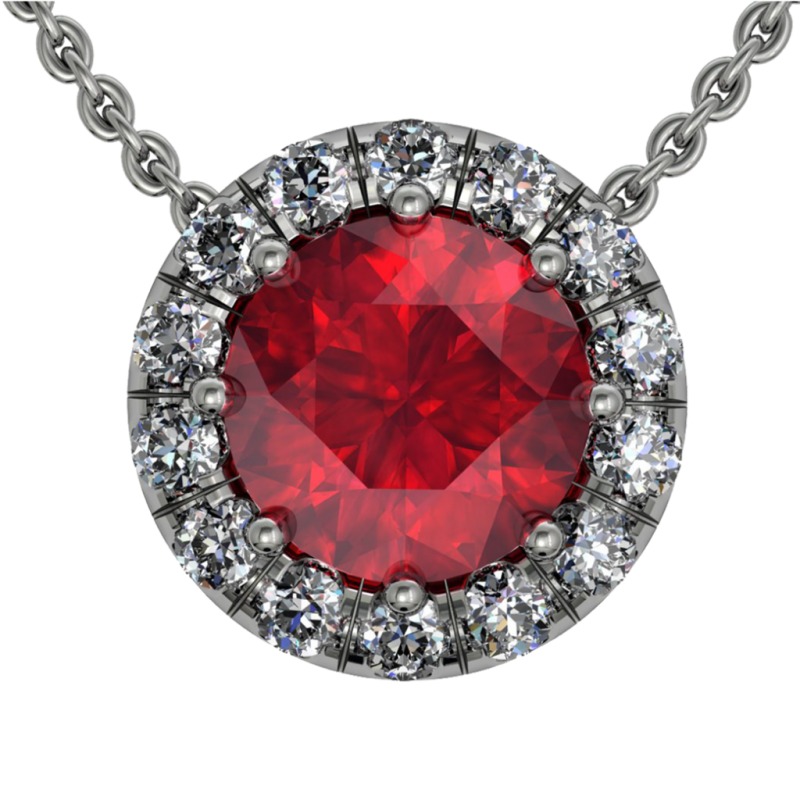 Ruby Pendant PNG Image