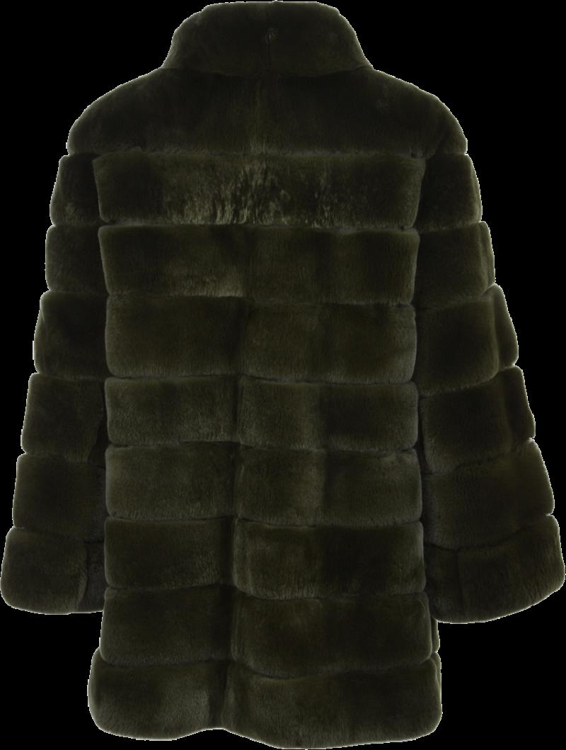 Salomon Womens Fur Coat Back Side PNG Image