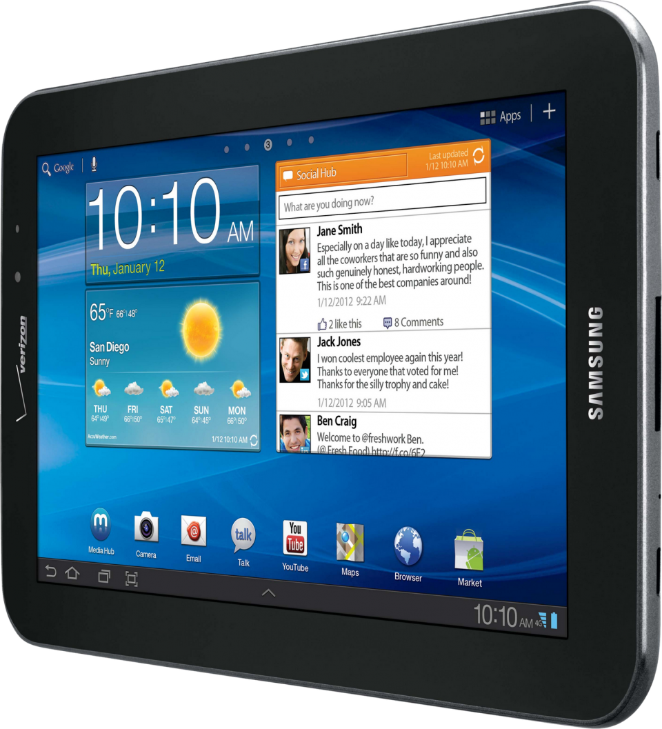 Samsung  Android Tablet PNG Image