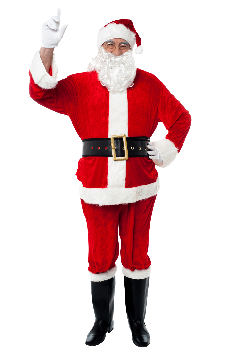 Santa Claus Holding Finger in The Air PNG Image