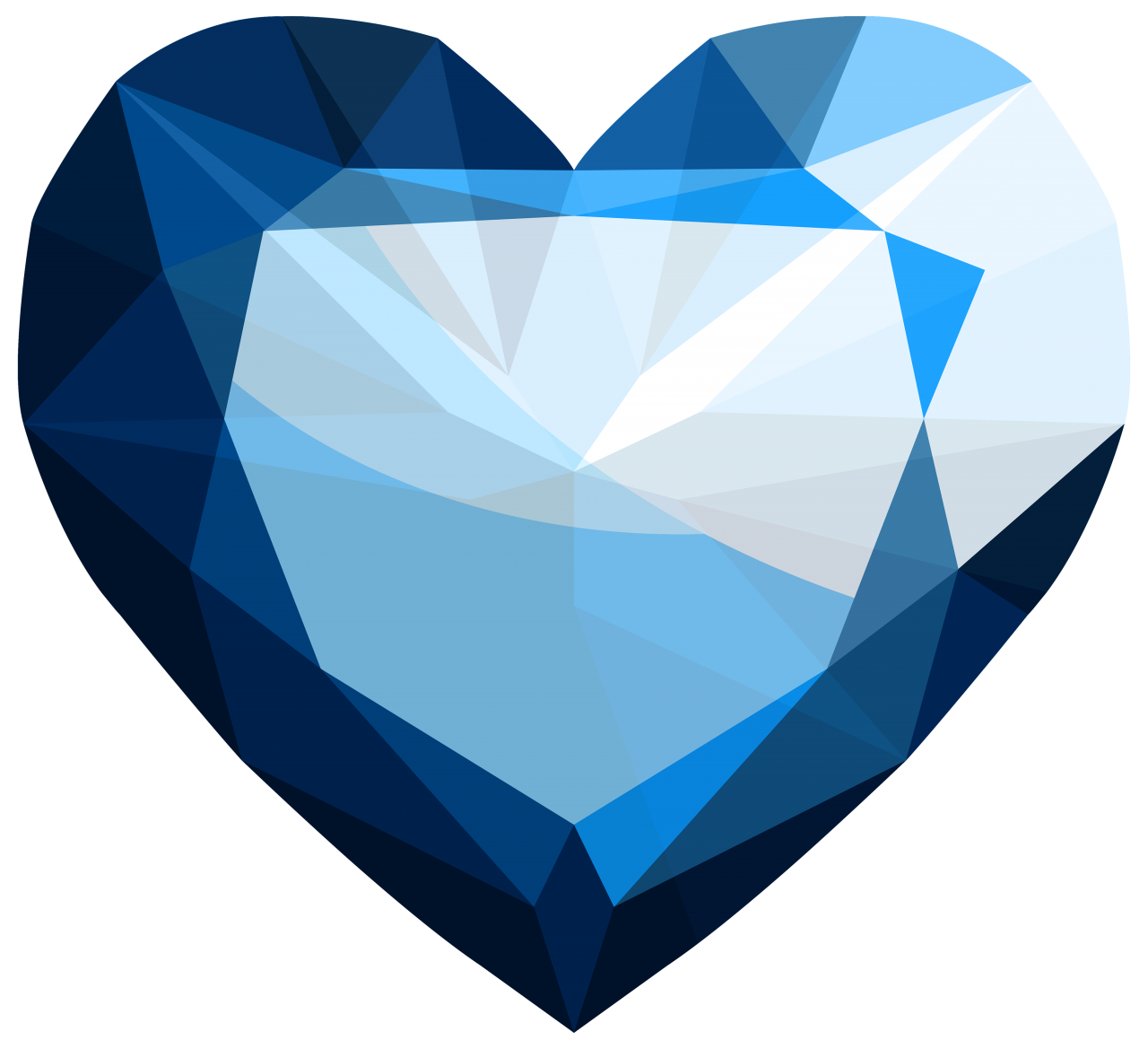 Sapphire Heart PNG Image