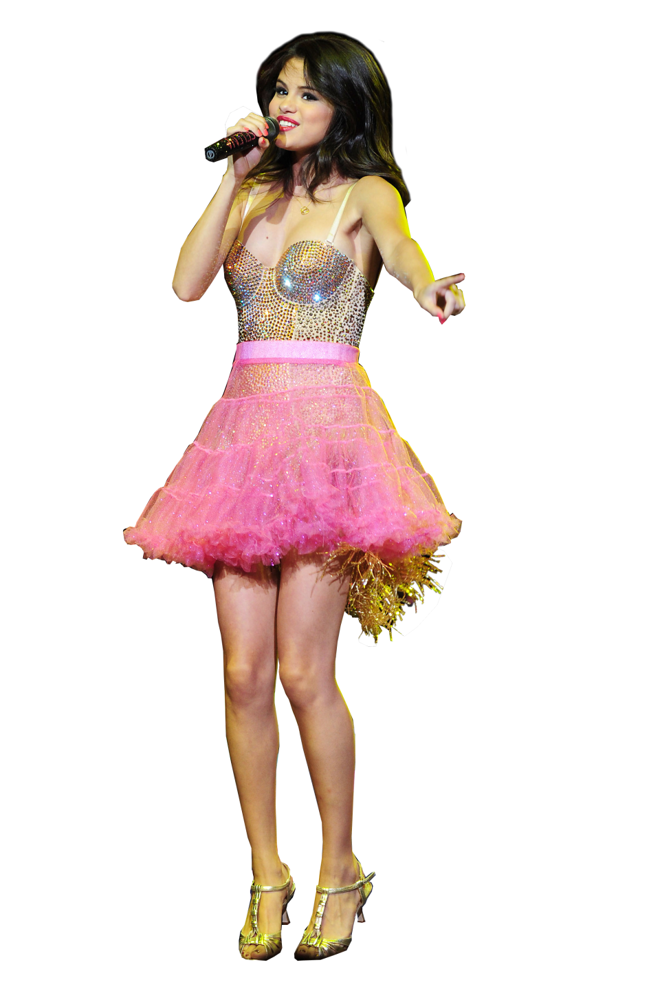 Selena Gomez on Stage PNG Image