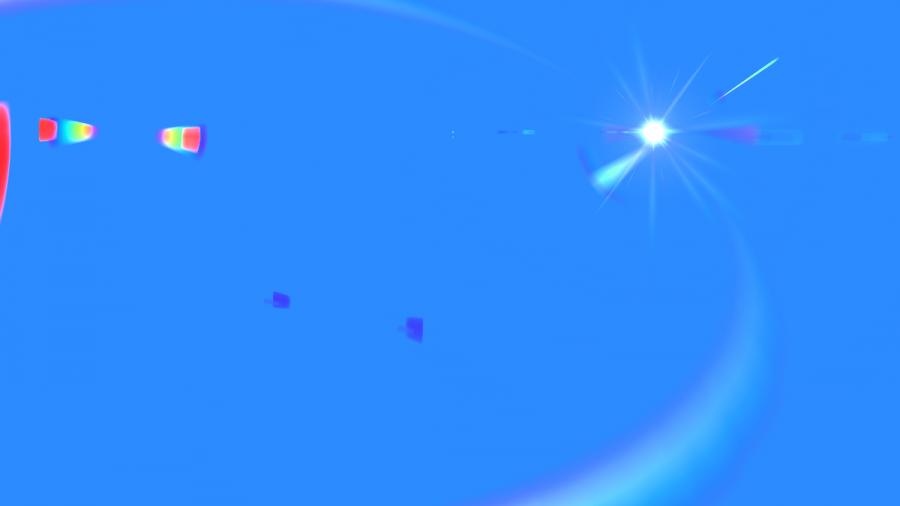 Side Blue Lens Flare PNG Image