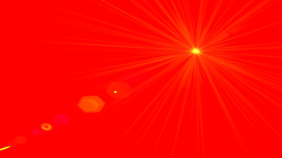 Side Red Lens Flare PNG Image