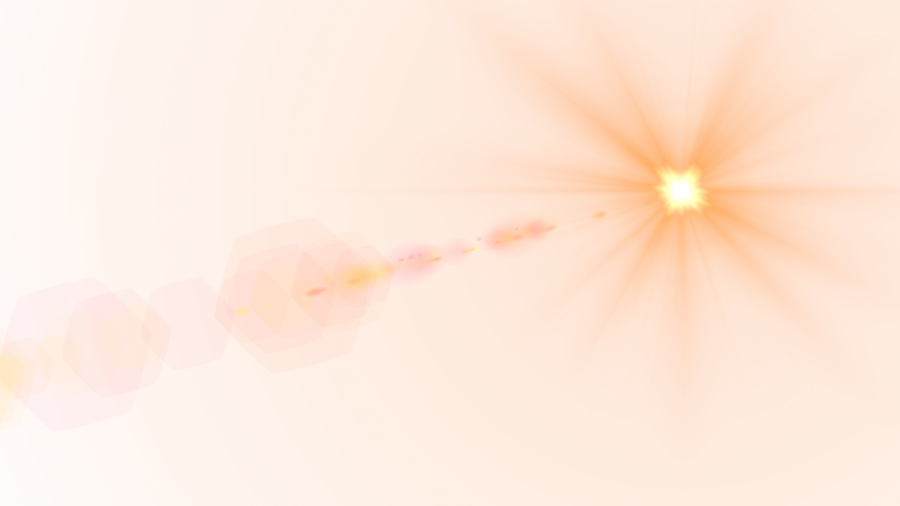 Side Yellow Lens Flare PNG Image