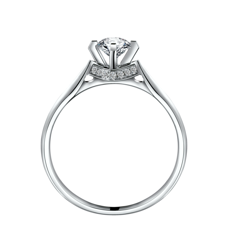 Silver Ring  With Diamond PNG Image