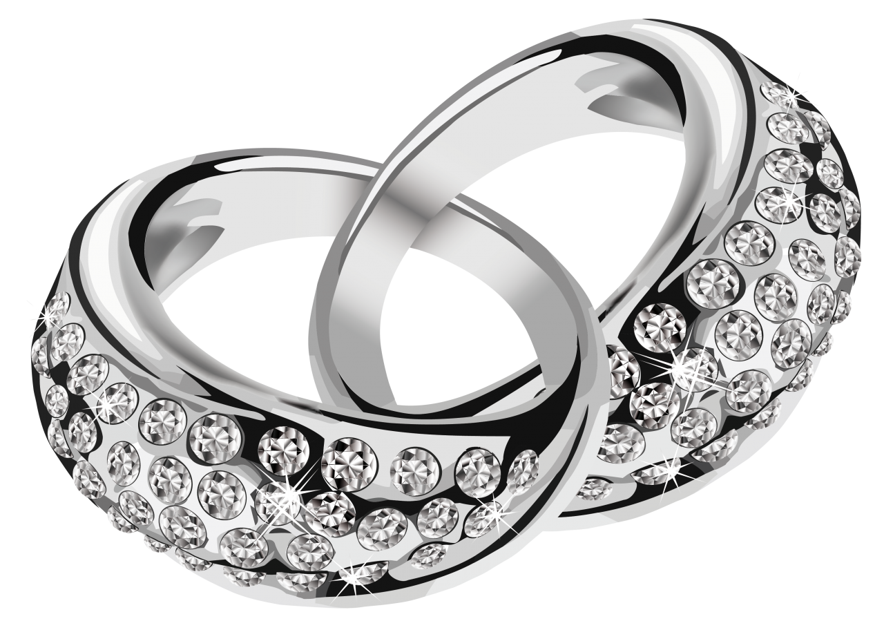Silver Rings PNG Image
