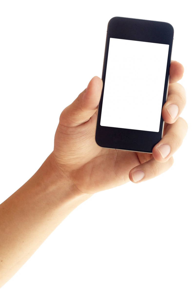 iPhone Smartphone in Hands PNG Image