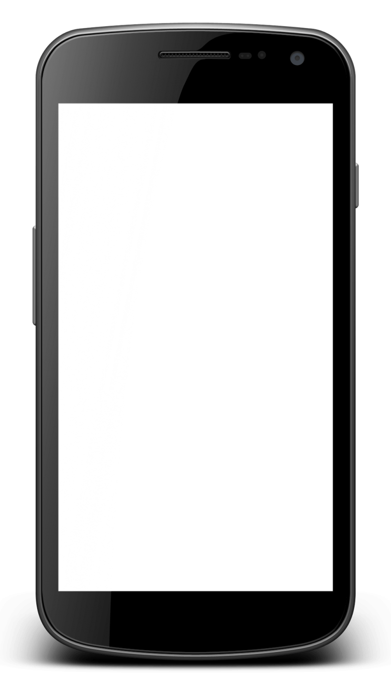 Smartphone with transparent screen PNG Image