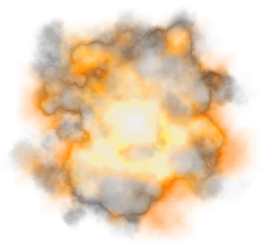 Explosion with Smoke PNG Image